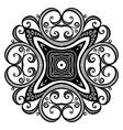 Beautiful Deco Black Square vector image