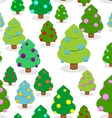 Winter Christmas forest seamless pattern Christmas vector image