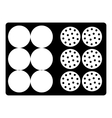 Bag for golf balls icon simple style vector image