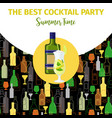 becherovka alcohol bottle cocktail bar banner vector image