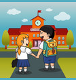 children back to school background vector image