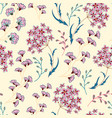 cute floral pattern in the small flower motifs vector image