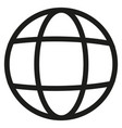 earth line icon vector image