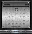 Metal January Calendar 2014 Happy New Year vector image