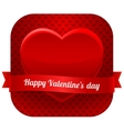 Modern heart with ribbon vector image