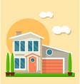 modern living house vector image
