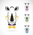 Rhino glasses vector image