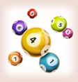 snooker balls background vector image