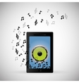 mobile music phone sound notes vector image