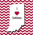Red and White Indiana Chevron Card vector image