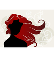 Young woman with wavy hair vector image