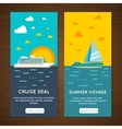 Sea cruise 2 vertical banners set vector image