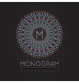 Elegant linear abstract monogram logo design temp vector image