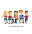 Disabled or handicapped children with friends vector image