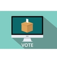 online vote box vector image
