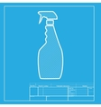 Plastic bottle for cleaning White section of icon vector image