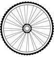 Bicycle wheel vector image