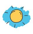 Cartoon doodle sun vector image