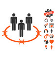 concentration camp icon with dating bonus vector image