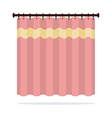 Pink Curtain On White Background vector image