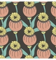 seamless pattern of exotic colored flowers vector image