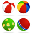 set of beach balls vector image