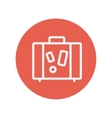 Suitcase thin line icon vector image
