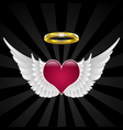 Wings of love vector image