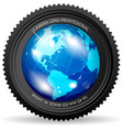 zoom the world vector image