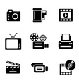 computer photo-video icons vector image