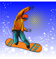 man jumping on snowboard vector image
