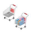 shopping cart isometric vector image vector image