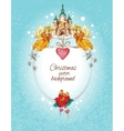 Christmas background colored vector image vector image
