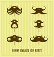 Funny beard masks vector image