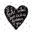 black and white love quote phrase on the vector image