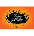 happy halloween text design background vector image