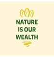 Sign of ecology organization with green tree and vector image