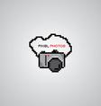photography logo template theme vector image