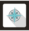 Ancient compass icon in flat style vector image