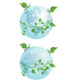 butterflies and globe vector image