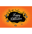happy halloween text design background vector image