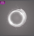 light ring round shiny frame with lights vector image