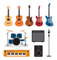 Music Instruments Objects Set vector image