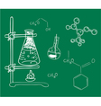 Old science and chemistry laboratory vector image