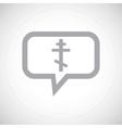 Orthodox cross grey message icon vector image