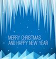 Retro minimalistic Christmas card vector image