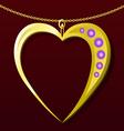 Valentine gold pendant vector image