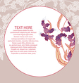 White plant branch on pink template v vector image