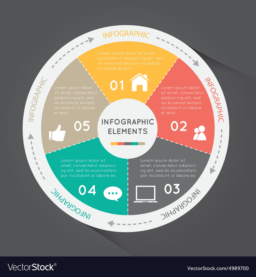 Circular chart infographic elements circle chart vector