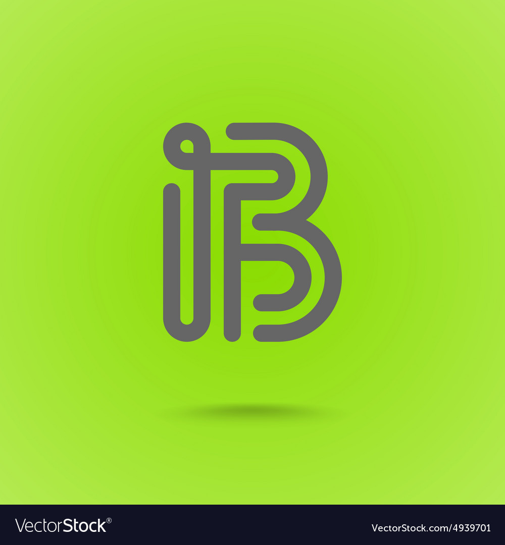 Letter b graphic logo element vector
